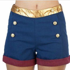 Wonder Woman high waisted shorts
